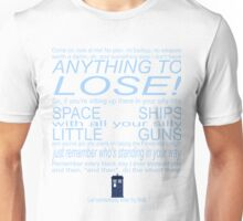 The Doctor's Speech at the Pandorica Unisex T-Shirt