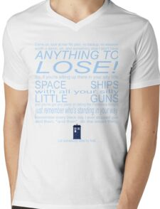 The Doctor's Speech at the Pandorica Mens V-Neck T-Shirt