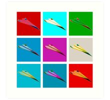 Paper Airplane 22 Art Print
