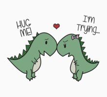 Dino Love! (Hug Me!) One Piece - Short Sleeve