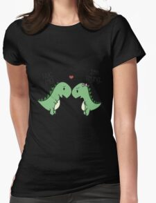 Dino Love! (Hug Me!) Womens Fitted T-Shirt