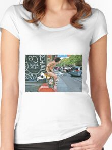 ESCAPE FROM NEW YORK TARZAN Women's Fitted Scoop T-Shirt