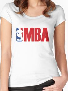 mba parody Women's Fitted Scoop T-Shirt
