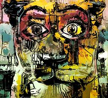 Lion Eyes Abstract Expression Illustration by Anthony Ross