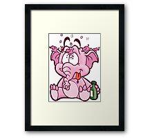 HeinyR- Drunk Elephant Framed Print