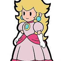Princess Peach from Paper Mario by lindypie