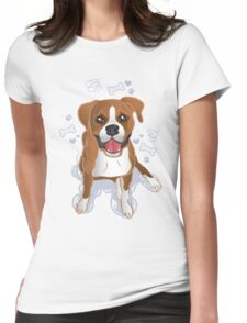 Boxer - Puppy Dog Eyes Womens Fitted T-Shirt