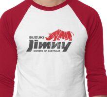 Suzuki Jimny Owners of Australia - Grunge Rhino Red Men's Baseball ¾ T-Shirt