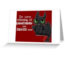 Toothless - Night fury quote Greeting Card