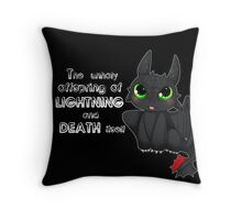 Toothless - Night fury quote Throw Pillow