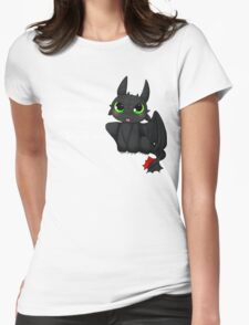 Toothless - Night fury quote Womens Fitted T-Shirt