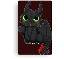 Toothless - How to Train your dragon Canvas Print
