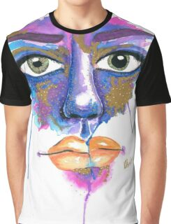 Dilated Watercolour Graphic T-Shirt