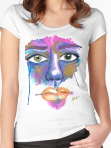 Dilated Watercolour Women's Fitted Scoop T-Shirt