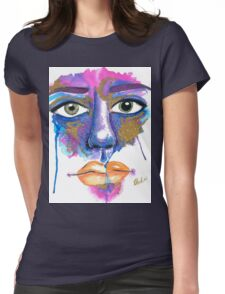 Dilated Watercolour Womens Fitted T-Shirt