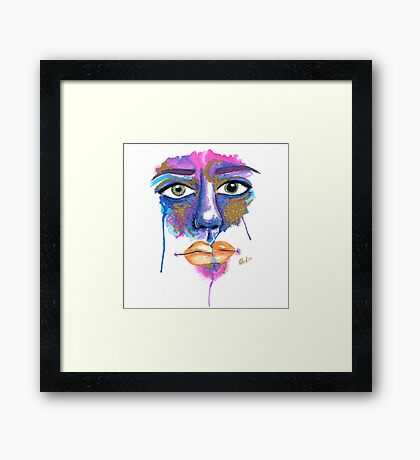 Dilated Watercolour Framed Print