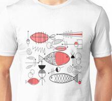 Mid-Century Fish Salmon Pink Unisex T-Shirt