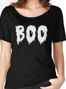 BOO! HAPPY SPOOKY HALLOWEEN! Women's Relaxed Fit T-Shirt