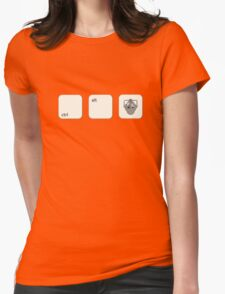 Ctrl Alt Del Cyberman Parody Doctor Who Womens Fitted T-Shirt