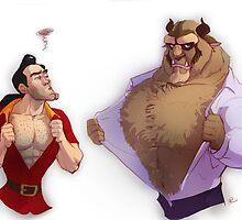 Gaston vs. Beast by rain1940