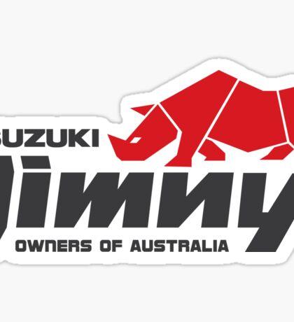 Suzuki Jimny Owners of Australia - Rhino Red Sticker
