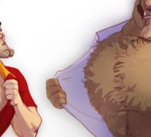 Gaston vs. Beast Sticker