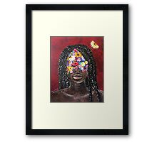 Girl In The Braids Framed Print