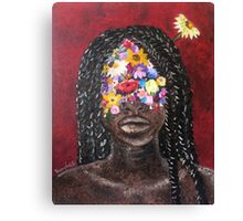 Girl In The Braids Canvas Print
