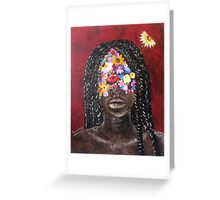 Girl In The Braids Greeting Card