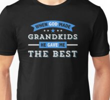 God Gave Best Grandchildren Unisex T-Shirt