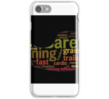 Barefoot running word cloud iPhone Case/Skin