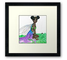gold faerie Framed Print