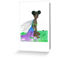 gold faerie Greeting Card