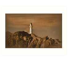 The Lighthouse at Castlepoint Art Print