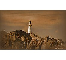 The Lighthouse at Castlepoint Photographic Print