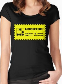 Hacker at work Women's Fitted Scoop T-Shirt