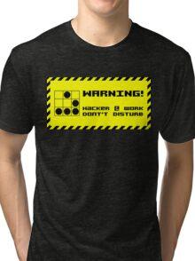 Hacker at work Tri-blend T-Shirt