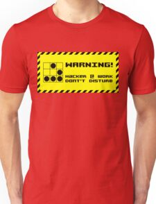Hacker at work Unisex T-Shirt