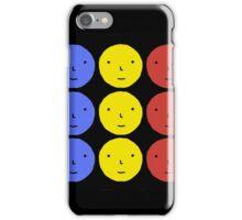 Funky Tri Color Face Design | Cool Line Art iPhone Case/Skin