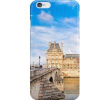 Le Pont Royal And The Pavillon de Flore - Paris River Seine iPhone Case/Skin