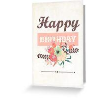 Stylish Happy Birthday Card Greeting Card