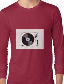 Retro Record Player Long Sleeve T-Shirt