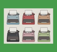 Cute Colourful Typewriters Kids Tee