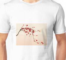 Whimsical Red Cherry Blossom Tree Unisex T-Shirt