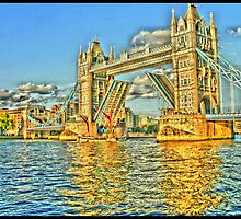 Tower Bridge In Yellow by InterestingImag