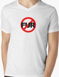 No Fur Mens V-Neck T-Shirt