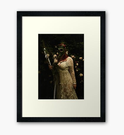 Your  flowers are toxic Framed Print