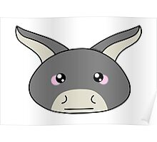 Donkey - Farm animals collection Poster