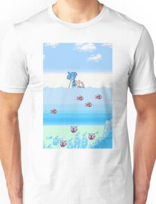 Pokemon Gold And Silver Scenic Ocean Unisex T-Shirt
