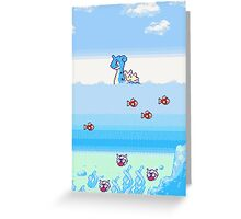 Pokemon Gold And Silver Scenic Ocean Greeting Card